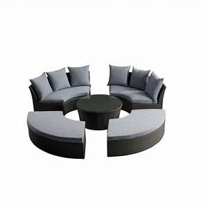 Salon De Jardin Rond : salon de jardin rilasa rond modulable 2 canap achat ~ Dailycaller-alerts.com Idées de Décoration