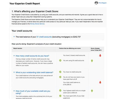 credit bureau experian personal credit report sle credit reports reporting
