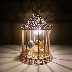 Lampe à Suspendre : lampe a poser ou suspendre cage oiseaux tole perfor e ~ Teatrodelosmanantiales.com Idées de Décoration