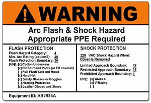 short circuit and coordination study with arc flash hazard With arc flash hazard label