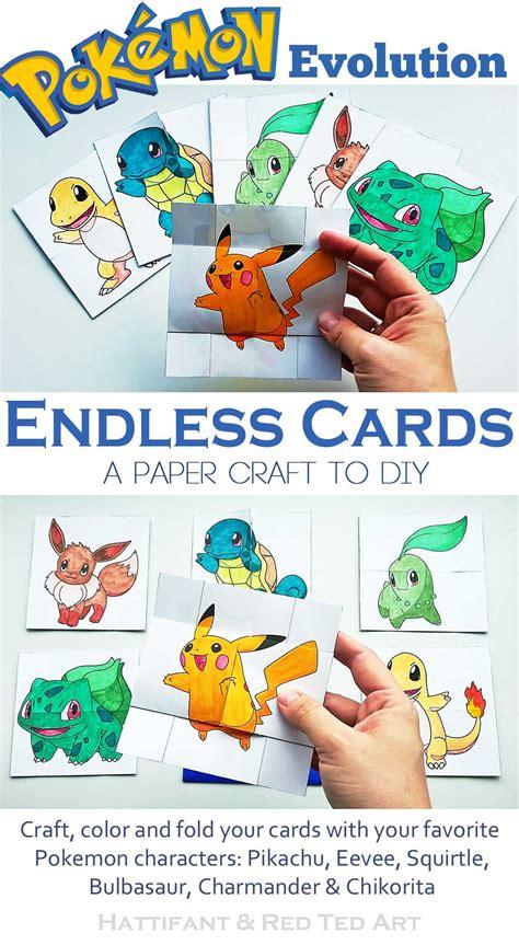 paper toys pokemon evolution endless cards hattifant