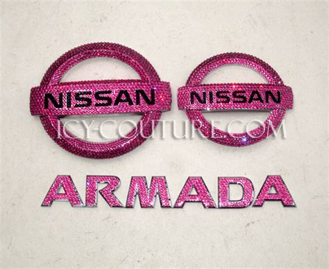 pink nissan sentra swarovski crystal nissan emblem whats your color select