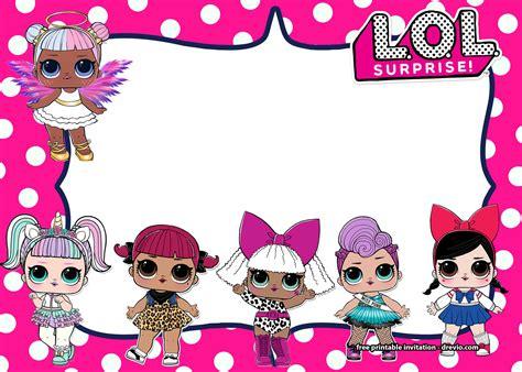 Free Lol Surprise Dolls Invitation Templates