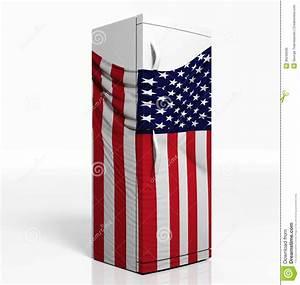 Kühlschrank Amerikanischer Stil : k hlschrank 3d mit amerikanischer flagge stockfoto bild 36240030 ~ Sanjose-hotels-ca.com Haus und Dekorationen