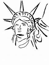 Liberty Statue Coloring Head Drawing Torch Duy Colored Clipartmag Getdrawings sketch template