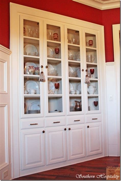 built in china cabinet feature friday craftsman home in cartersville part 1