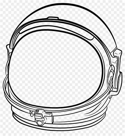 Astronaut Helmet Space Clipart Drawing Transparent Clip