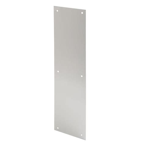 kitchen faucets pull prime line 4 in x 16 in satin aluminum door push plate j