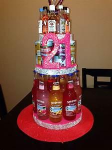 21st Alcohol Birthday cake   DIY   Pinterest   Birthday ...