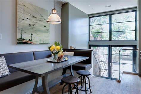 Kitchen Banquette Ideas - modern banquette seating for contemporary dining room and built in banquette home design ideas