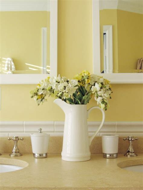 soft yellows  white pretty bathroom colors