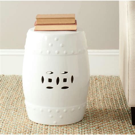 Garden Stool by Safavieh Modern Ming White Garden Patio Stool Acs4516a