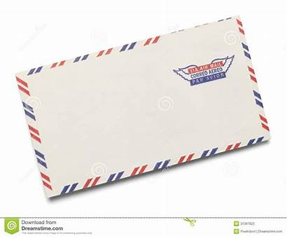 Letter Mail Air Clipart Airmail Stamped Via