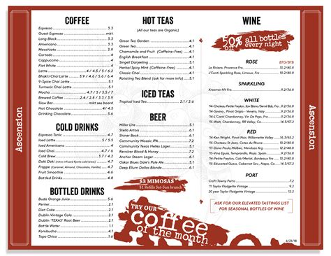 14131 midway rd fort worth: Coffee Wine & Food Menu | Ascension Coffee Roasters Dallas, Texas | Ascension coffee, Wine ...