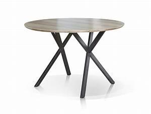 Tischplatte Rund 120 Cm : julian esstisch rund 120 cm gestell schwarz eiche dekor ~ Markanthonyermac.com Haus und Dekorationen