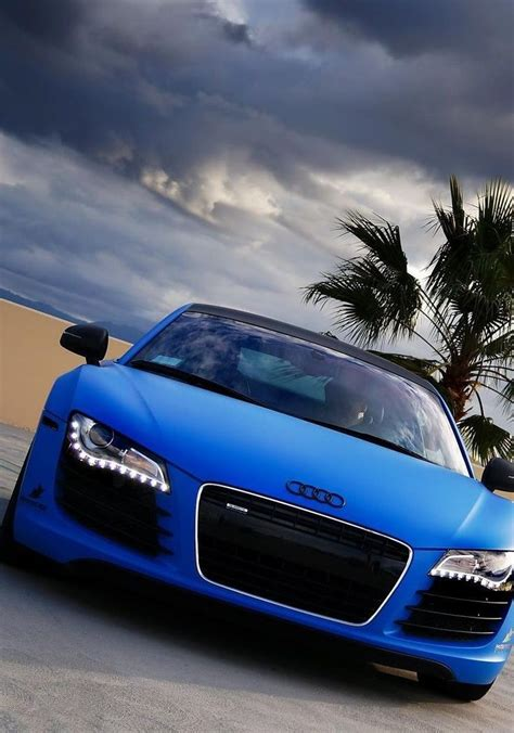 matte blue audi  cars  motorcycles pinterest