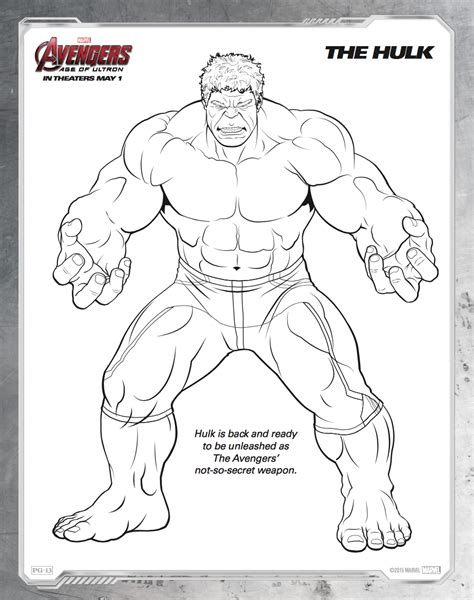 Hulk Avengers Coloring Pages Coloring Home