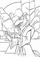 Coloring Ninja Splinter Cartoon Turtle Tmnt Turtles Babyhouse Cartoons sketch template
