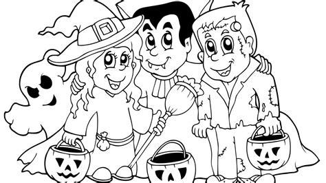 Dibujos Halloween Dibujo De Halloween Con Personajes Para Colorear
