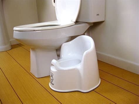 White Baby Bjorn Potty Chair Baby N Toddler