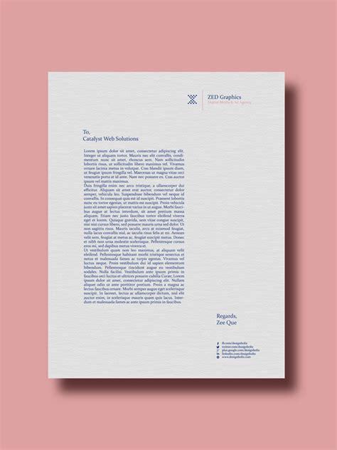 simple business card letterhead design template