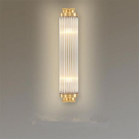 aliexpress com buy large vertical wall sconce led crystal wall light fixture glass ls for