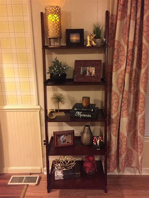 leaning bookshelf decor shelf decor living room