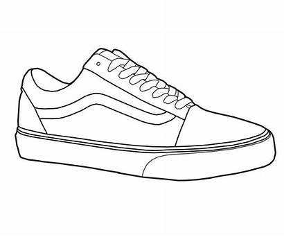 Vans Shoe Shoes Drawing Clipart Sneakers Skool