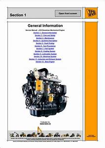 Jcb Dieselmax Mechanical Engine  Sa  U2013 Sc Build  Service