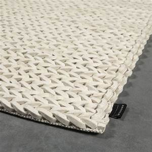 tapis en laine highland blanc angelo tisse main 140x200 With tapis laine tressée