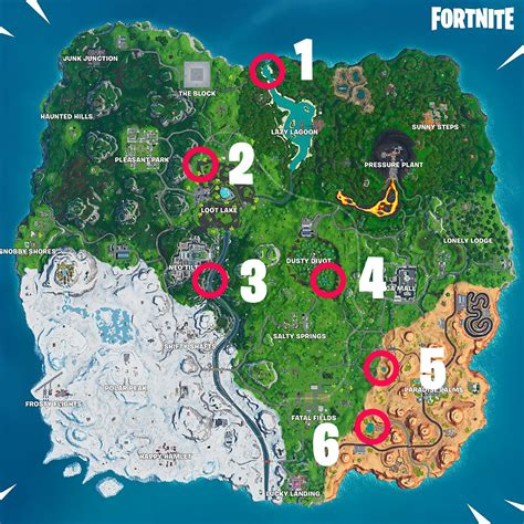 All Beach Party locations needed for Fortnite's 14 Days of ...