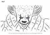 Pennywise Drawing Draw Easy Step Character Characters Coloring Funny Learn Clown Scary Tutorials Tutorial Memes Drawingtutorials101 Drawings Outline Fun Whitesbelfast sketch template