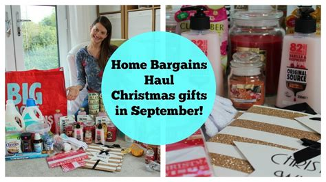 Home Bargains Haul  Christmas Gifts In September