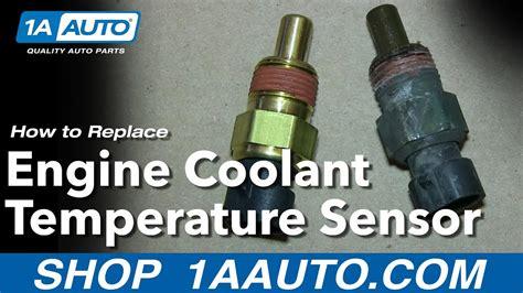 install replace engine coolant temperature sensor