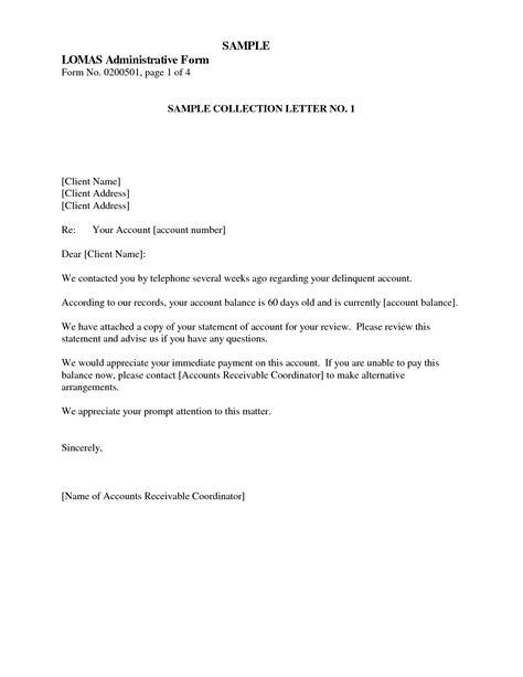 collection letter sle sle collection letter collection letter template sle