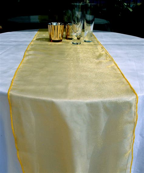 yellow gold table runner organza table runner yellow