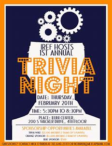 trivia night flyer idea yepi39m a trainer pinterest With trivia night poster template