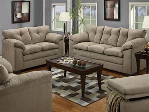 Luna Mineral Microfiber Sofa And Loveseat Set 6565