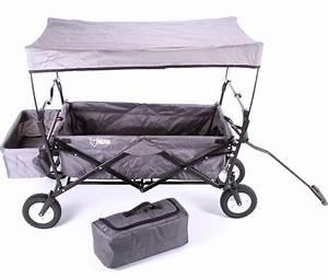 Bollerwagen Mit Dach : fuxtec jw76a grau faltbarer bollerwagen mit dach hecktasche und transporttasche ebay ~ Whattoseeinmadrid.com Haus und Dekorationen