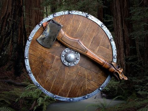 dragons head axe  wooden shield flickr photo sharing
