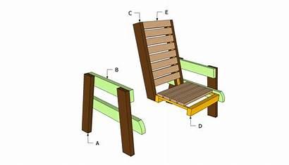Plans Chair Deck Wood Furniture Diy Wooden
