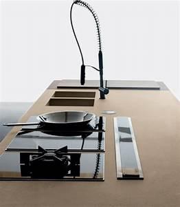 Spüle Mit Kochfeld : 6 moderne einbauk chen mit kochinsel von toncelli ~ Watch28wear.com Haus und Dekorationen