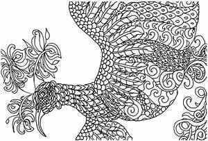 FREE Adult Coloring Book Page Fantasy Bird Jeanine A Thriver