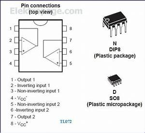 Tl072 Ic Pinout Diagram - Integrated Circuits Elektropage