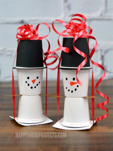 cup snowman fun family crafts