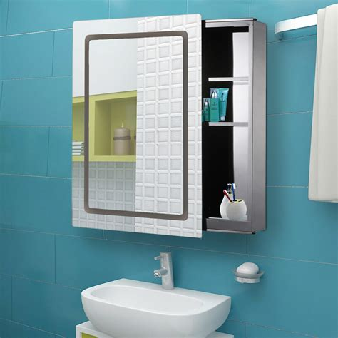 Led Medicine Cabinet by Morden Led Light Mirrored Medicine Cabinet Bathroom
