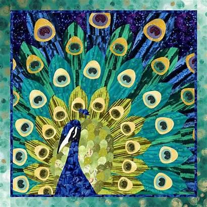 Peacock Pretty Quilt Pattern Pq Fabrics Rjr