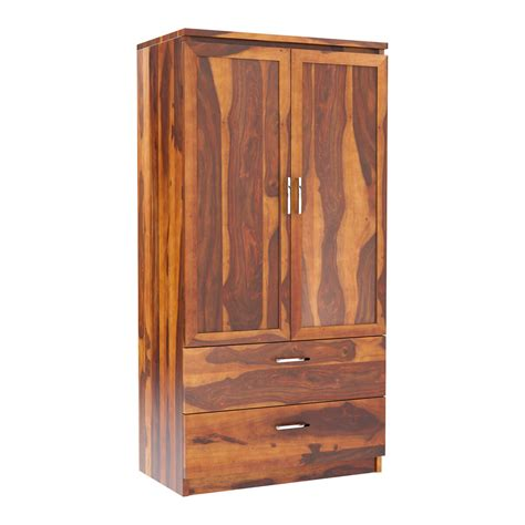 Wardrobe With Drawers And Shelves by Caspian Rustic Solid Wood Wardrobe Armoire With Drawers