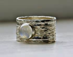 Simone unique rustic stackable moonstone wedding ring  from Stackable Birthstone Rings