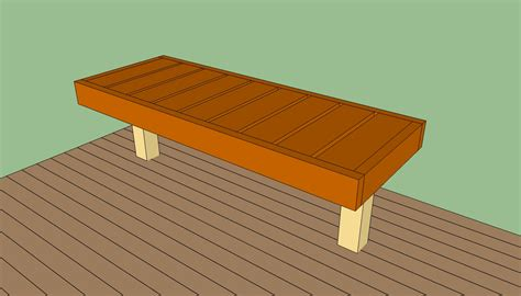 build a bench deck bench plans free howtospecialist how to build